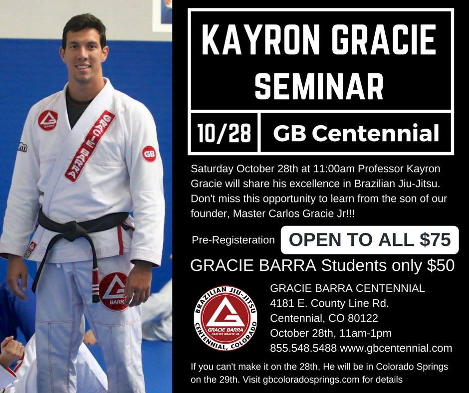 Kayron Gracie Brazilian Jiu-Jitsu Seminar - Gracie Barra